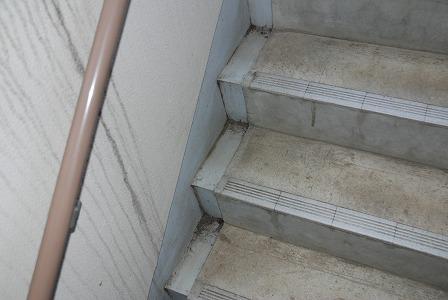 廊下があの状況なら階段も当然です・・・