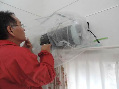 エアコン-作業手順追加 熱交換器の洗浄