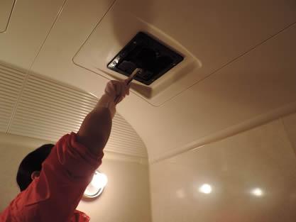 バスルーム-作業手順追加 カバーを外して洗浄