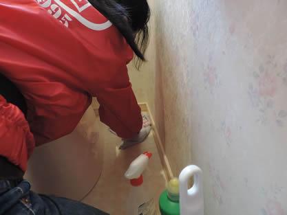 トイレ-作業手順追加 便座、ウォシュレット部分を洗浄、拭き上げます。